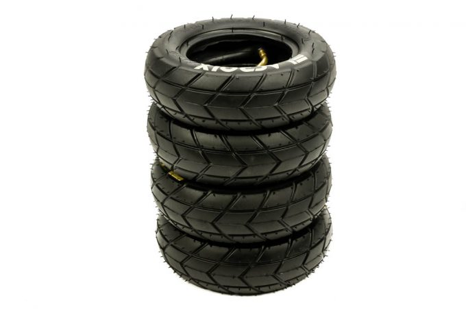 7 Inch tires with whitewall Lacroix logo